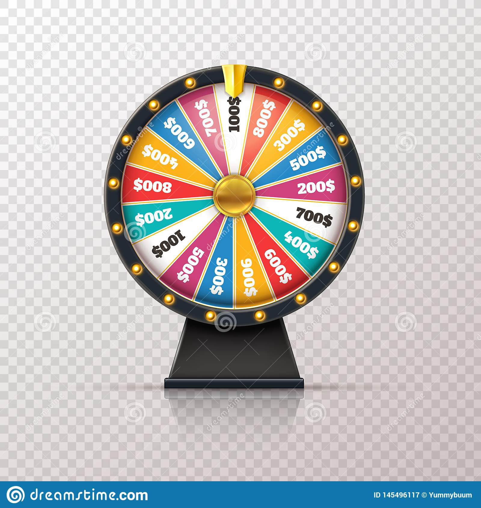 Wheel Fortune Casino Prize Lucky Game Roulette Win Jackpot Money