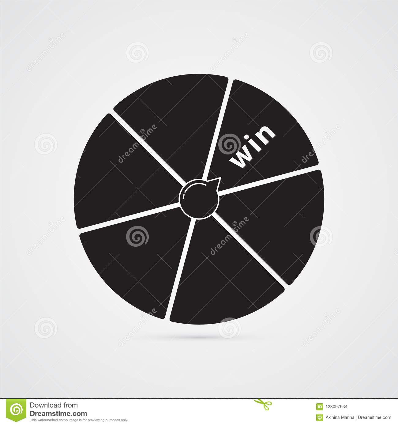 Wheel Of Fortune Disk With Segments Illustration For Luck Suc