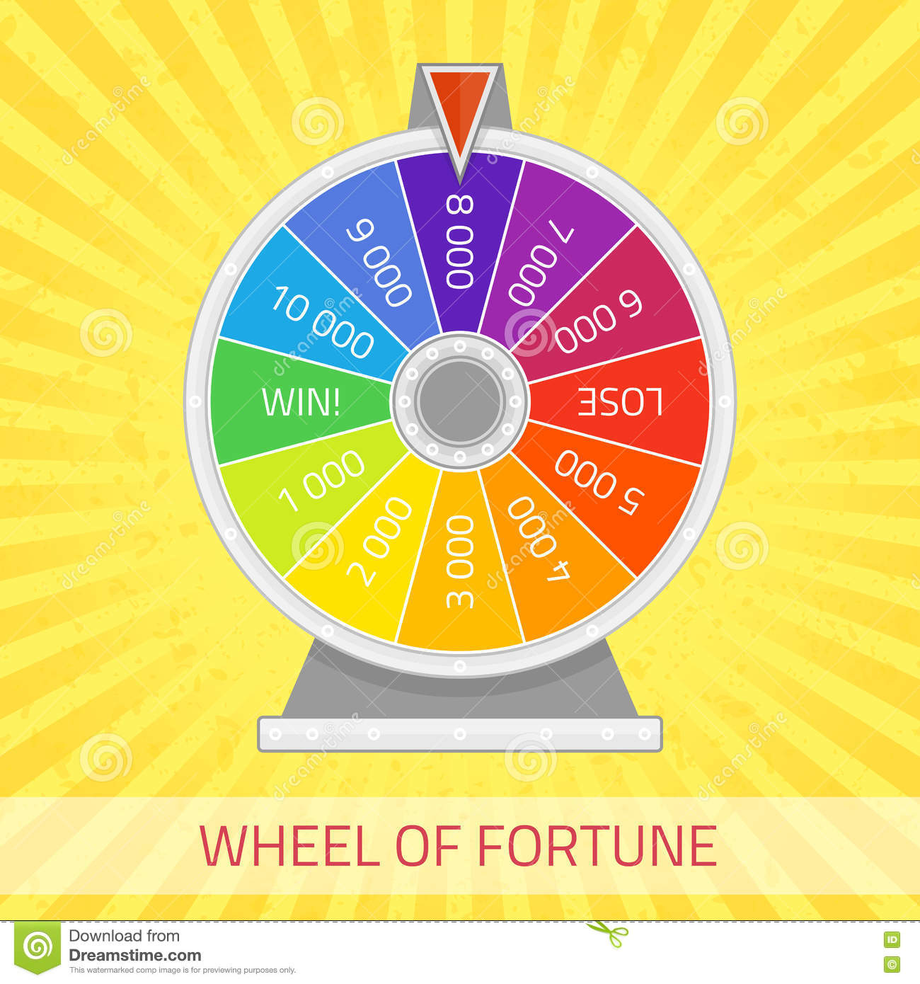 free wheel of fortune powerpoint game template images - templates, Powerpoint templates