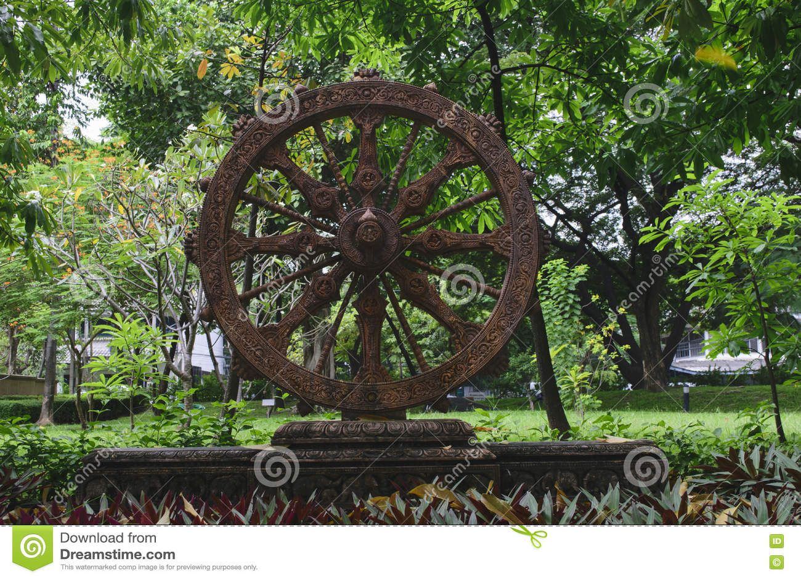 Wheel Of Life Park Stock Image Image Of Eight Nnthammachak 79202701