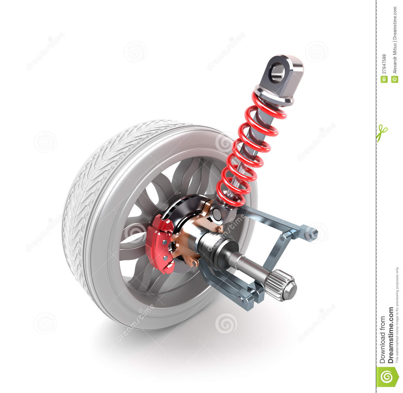 Wheel, shock absorber and