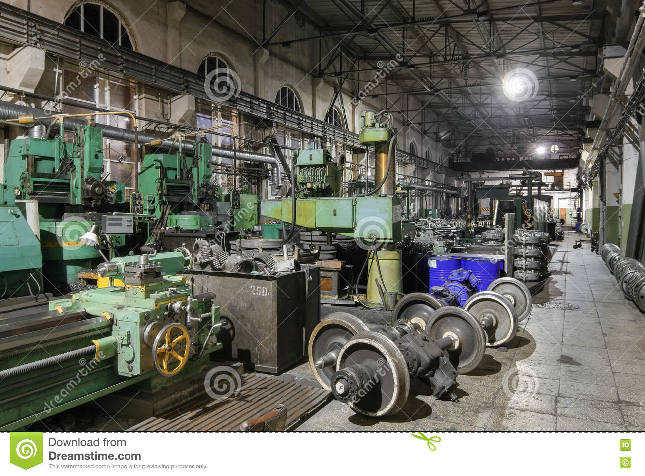 Wheel Shop Vehicle Repair Station Depot Stock Photo Image Of Hall