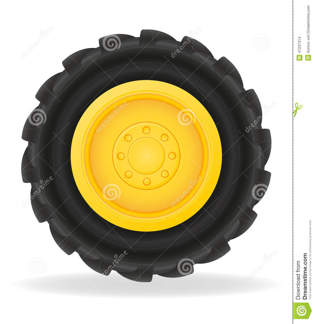 wheel for tractor vector illustration stock vector image john deere tractor clipart black and white john deere tractors clip art images free