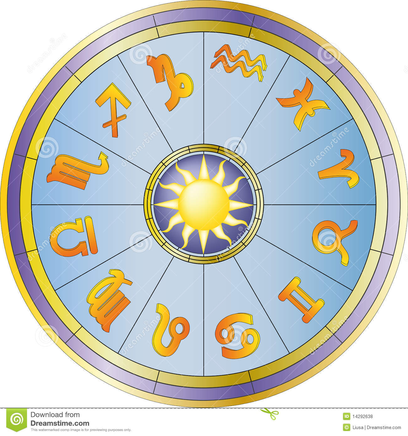 Zodiac Wheel Set 06 Vector Illustration Cartoondealer