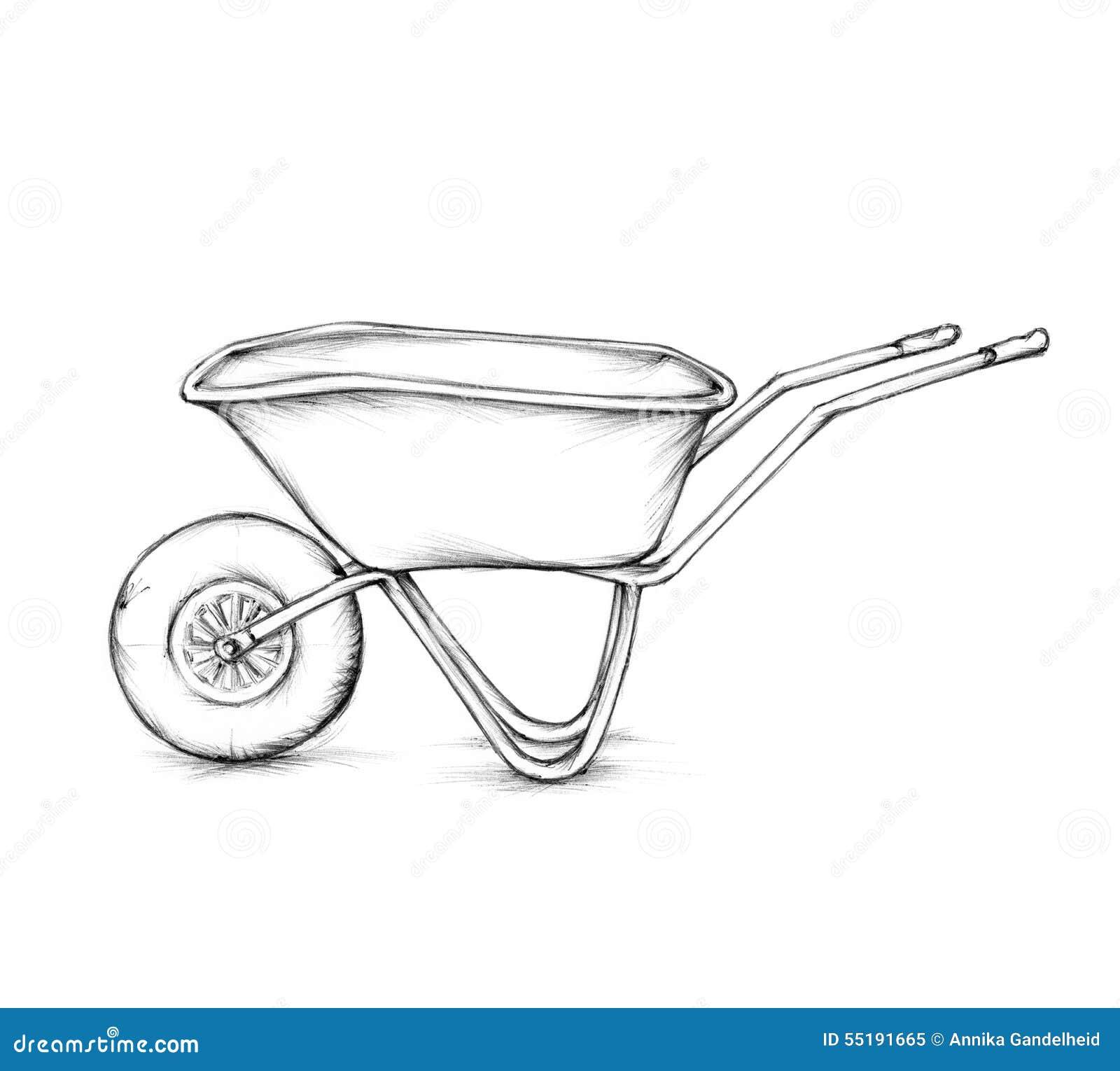 Wheelbarrow Stock Illu...