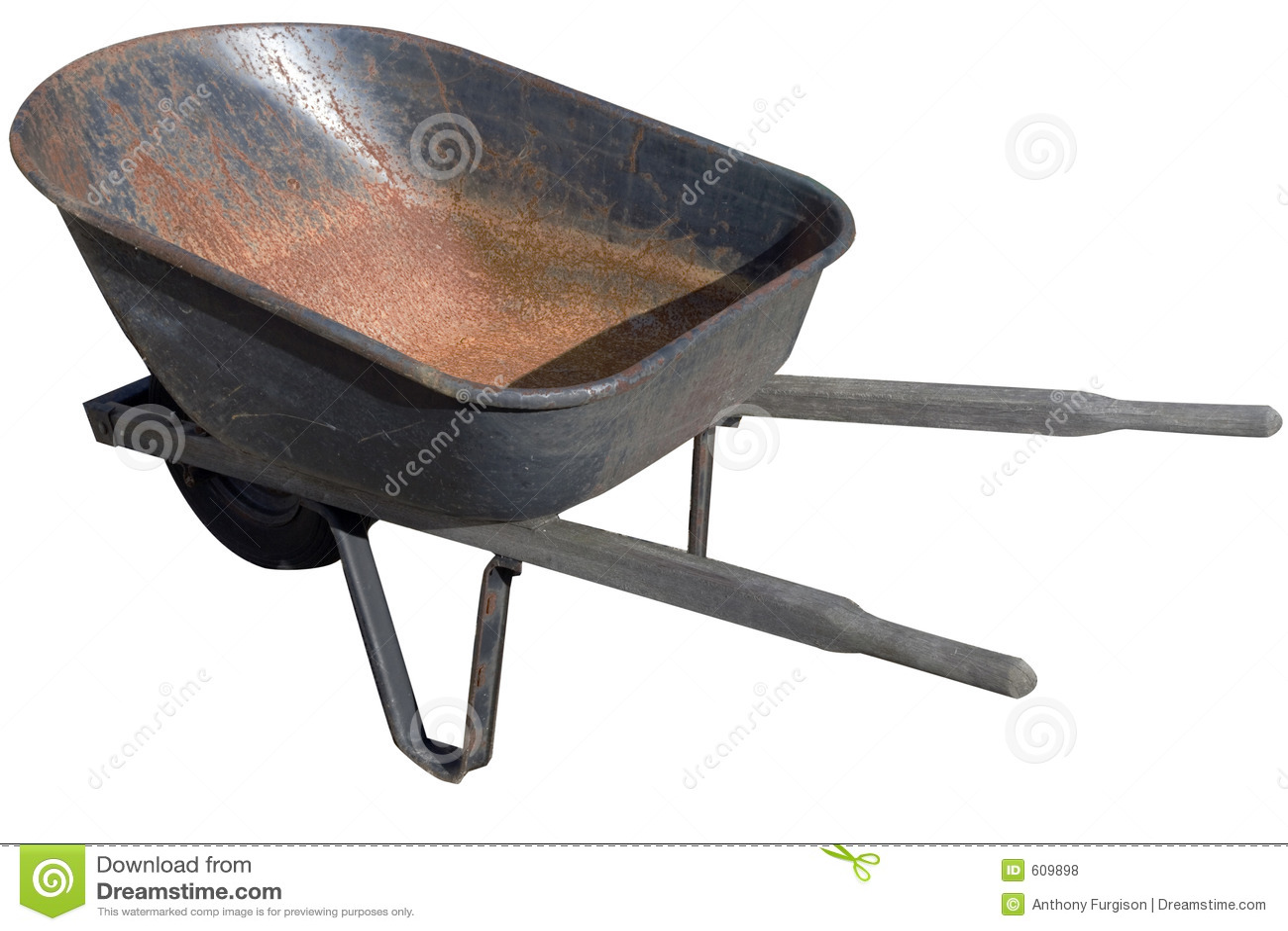 Wheelbarrow isolado