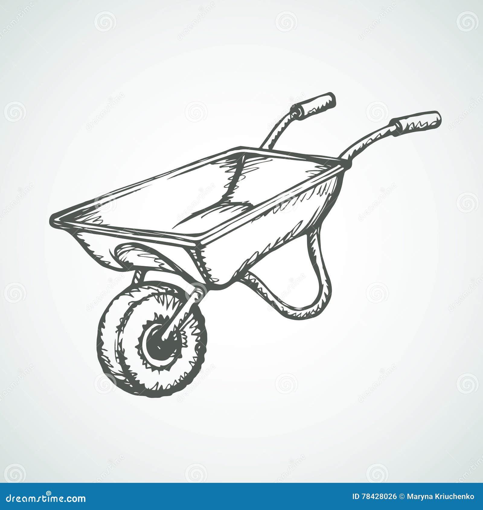 Wheelbarrow. Vector Dr...