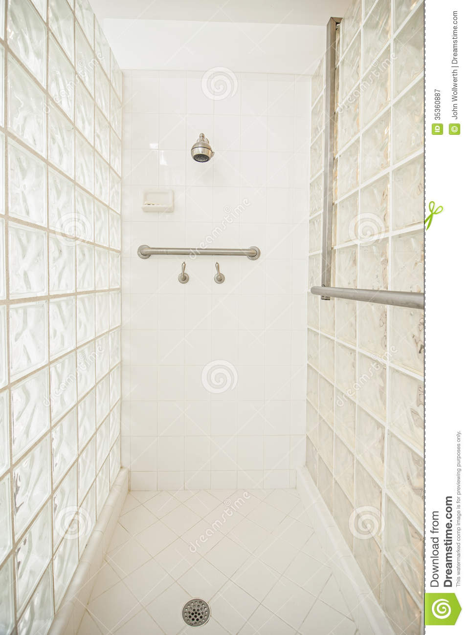 Wheelchair Accessible Shower Stock Image Image Of