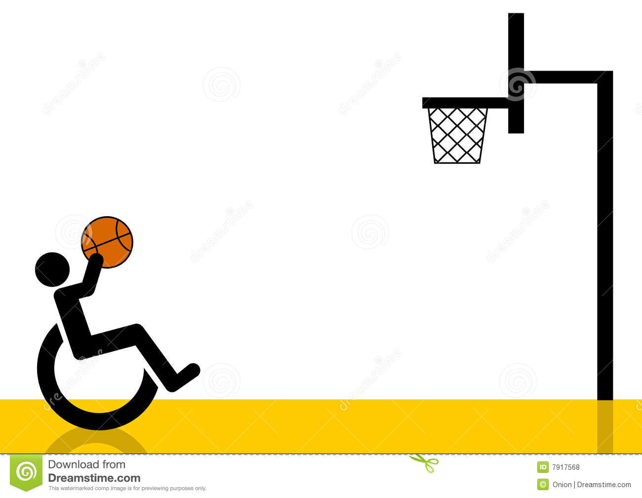 Wheelchair Basketball Player Graphic Stock Illustration ...