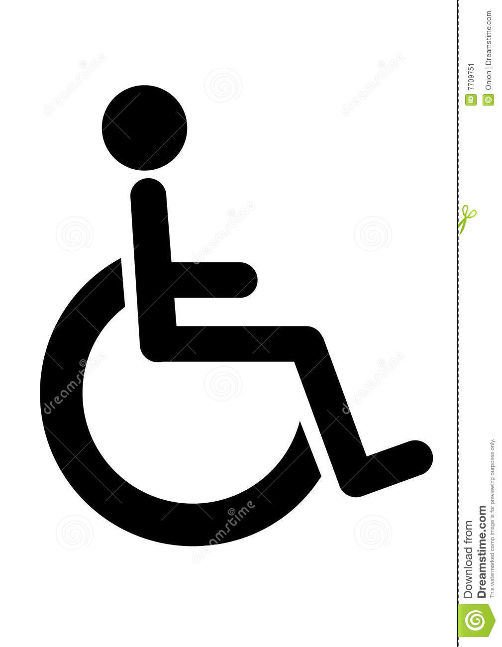 wheelchair disabled icon stock image image 7709751