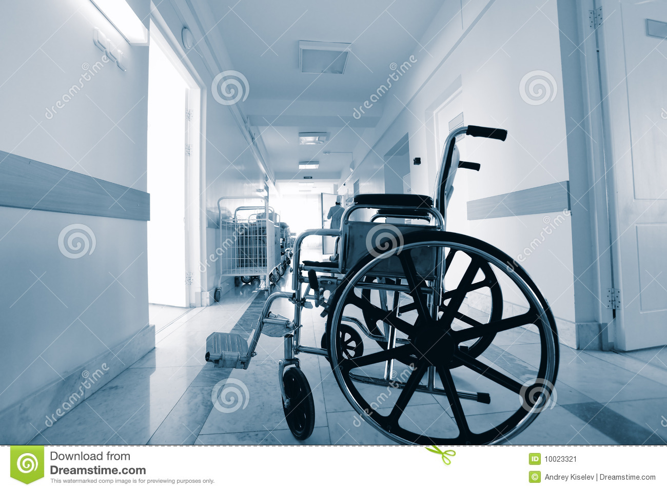Wheelchair In A Hospital Stock Image Image 10023321