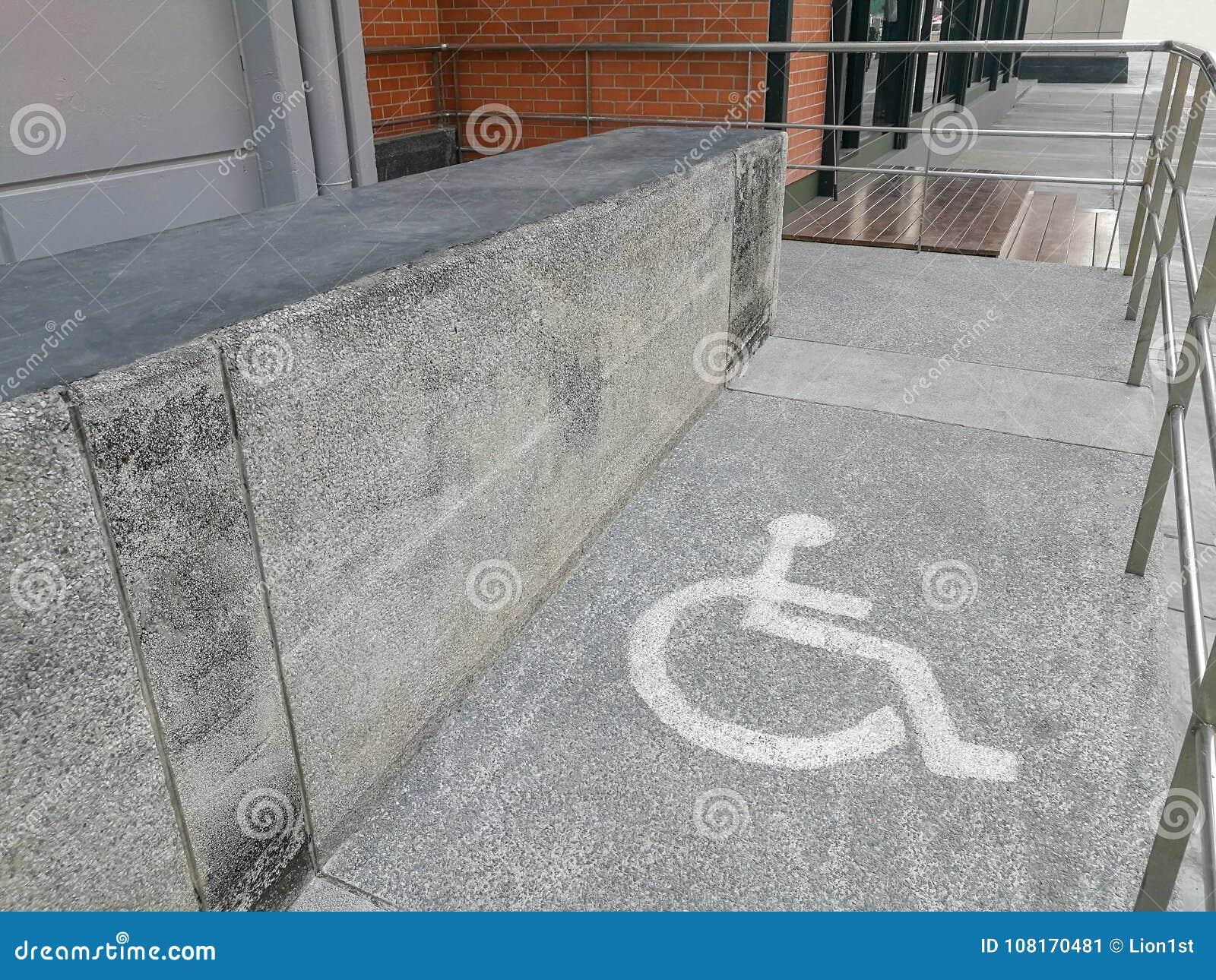 wheelchair ramp way stock image image of city stair 108170481