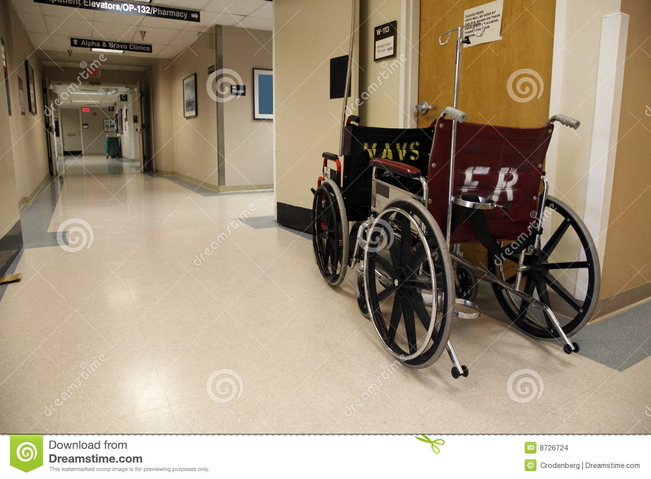 Wheelchairs and hallway