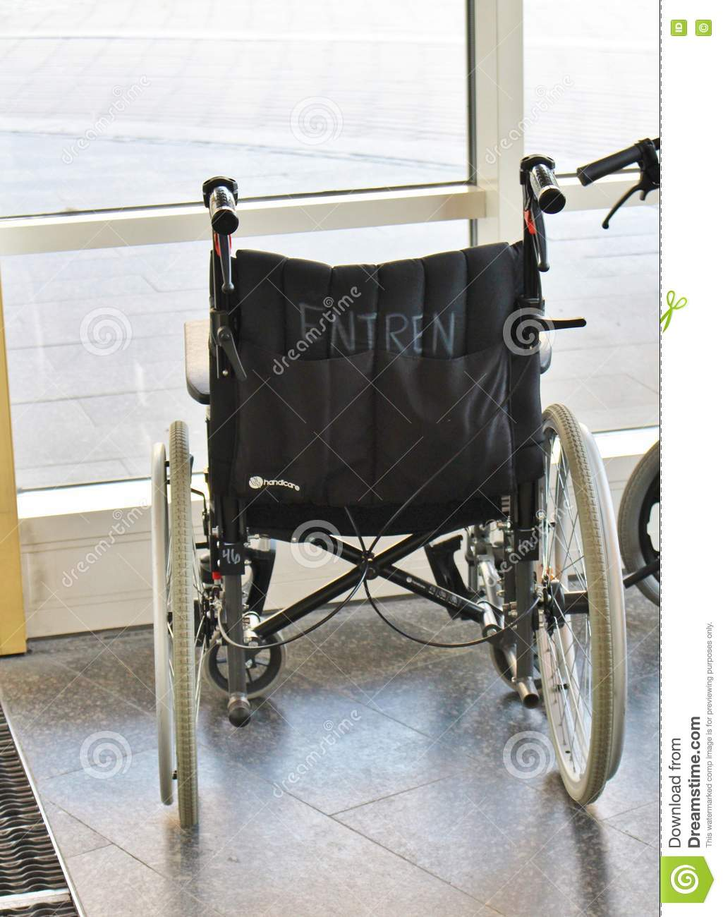 Wheelchairs in Sunderby Hospital