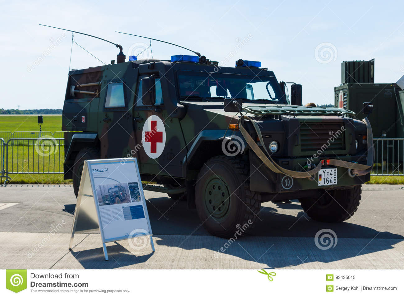 Wheeled Armored Vehicles Mowag Eagle Iv Ambulance Versions Editorial Image Image Of Berlin Mowag 93435015
