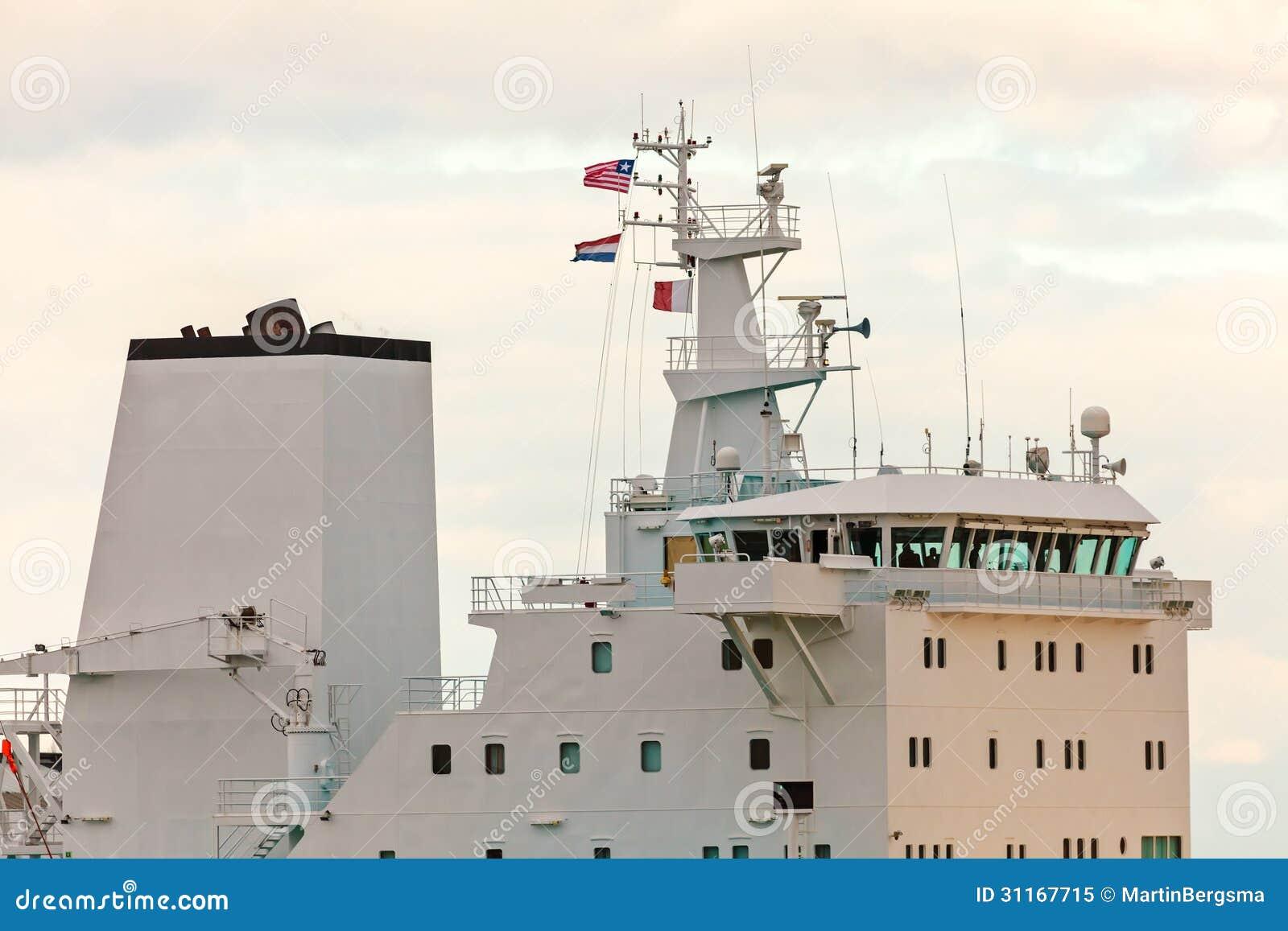 Wheelhouse Deck Of A Modern Industrial Ship Royalty Free Stock Photo - Image: 31167715