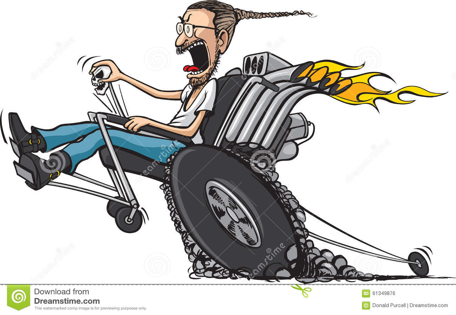 wheelie chair stock vector image 61349876 bulldog clipart free bulldog clipart free