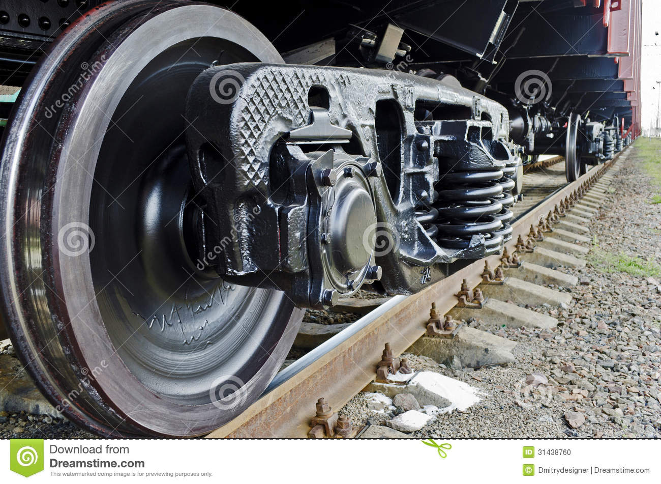 Wheels Of A Freight Train Stock Photo Image Of Rail
