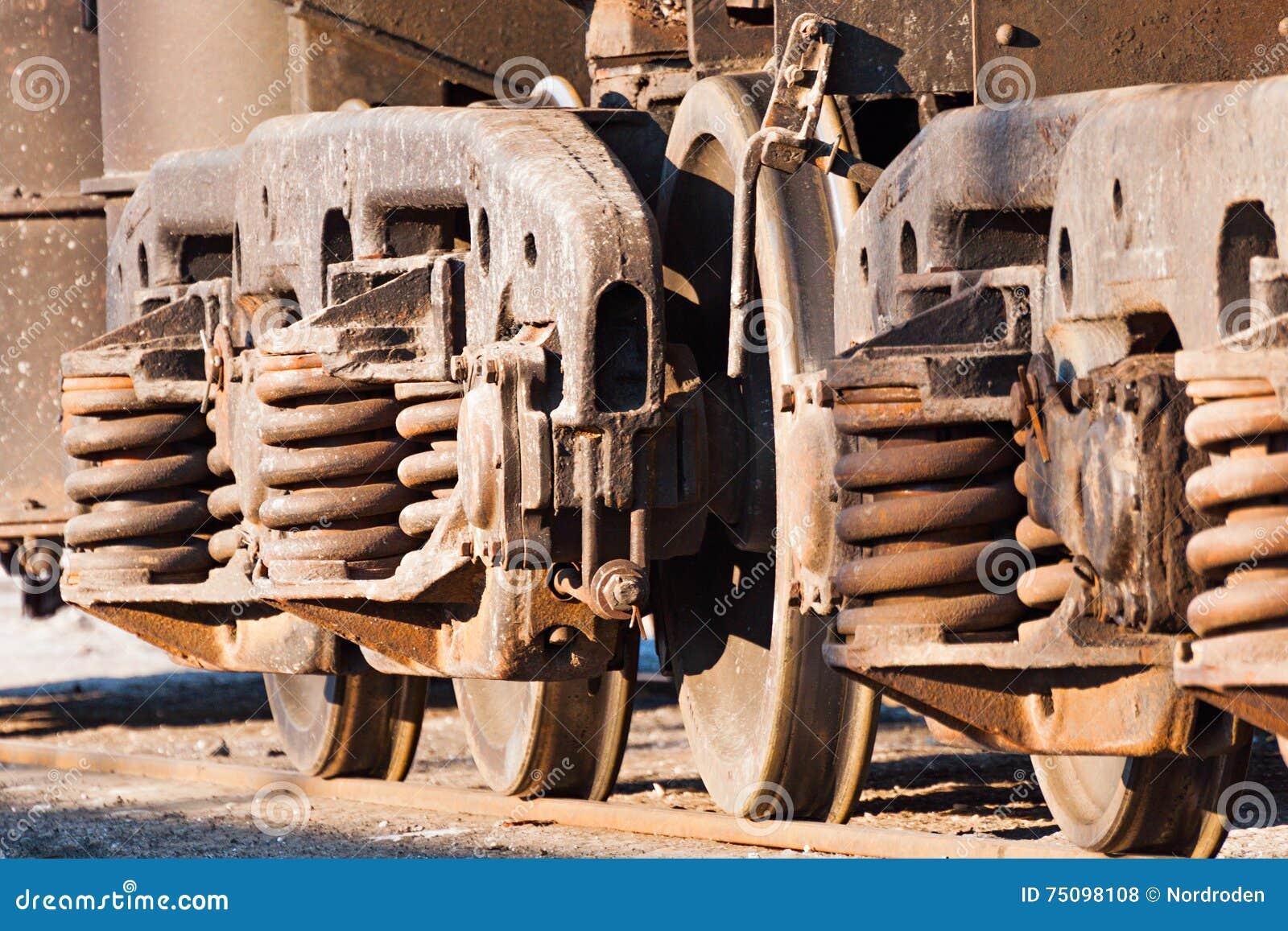 Wheels And Wheel Trolley Heavy Railway Freight Car  Stock