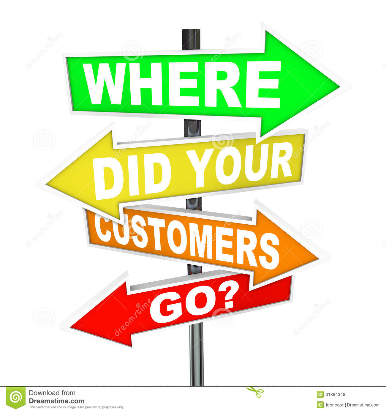 Where Did Your Customers Go Signs