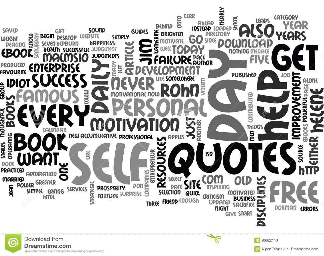 Where Do You Get Your Daily Success Quotes Word Cloud Stock