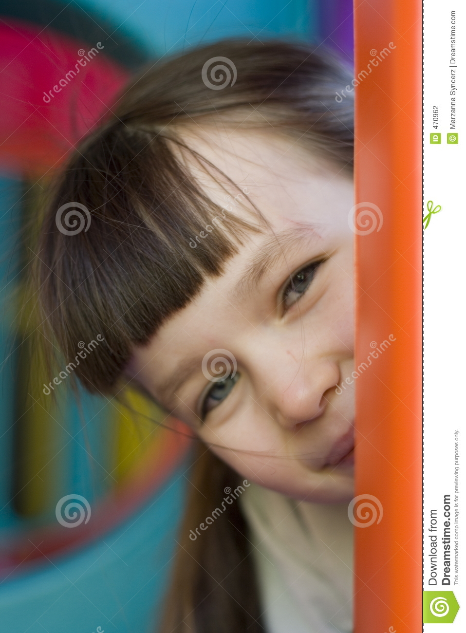 Download Where I am? stock photo. Image of child, looking, playful - 470962