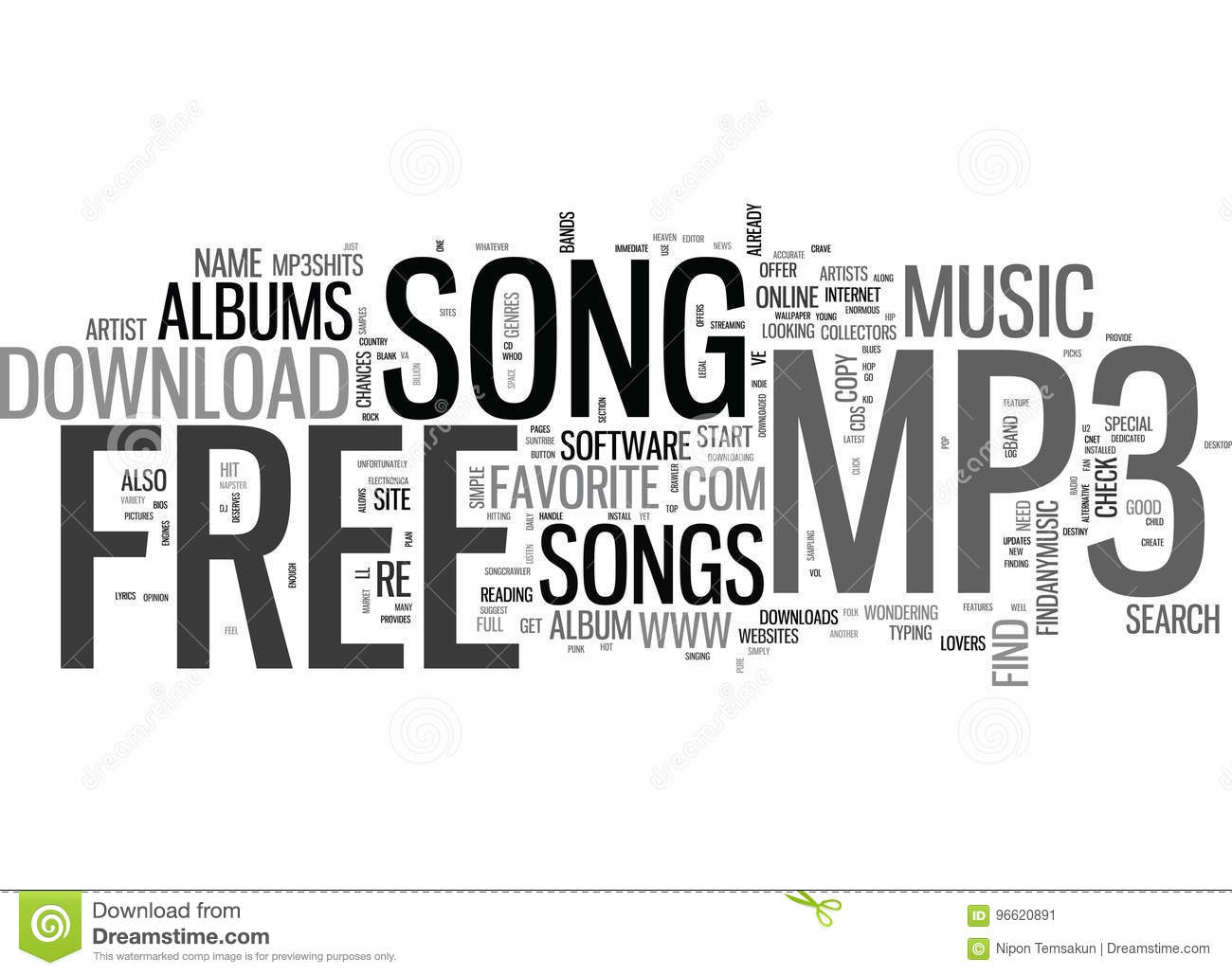 Where To Go To Download That Free Mp Song Text Word Cloud Concept