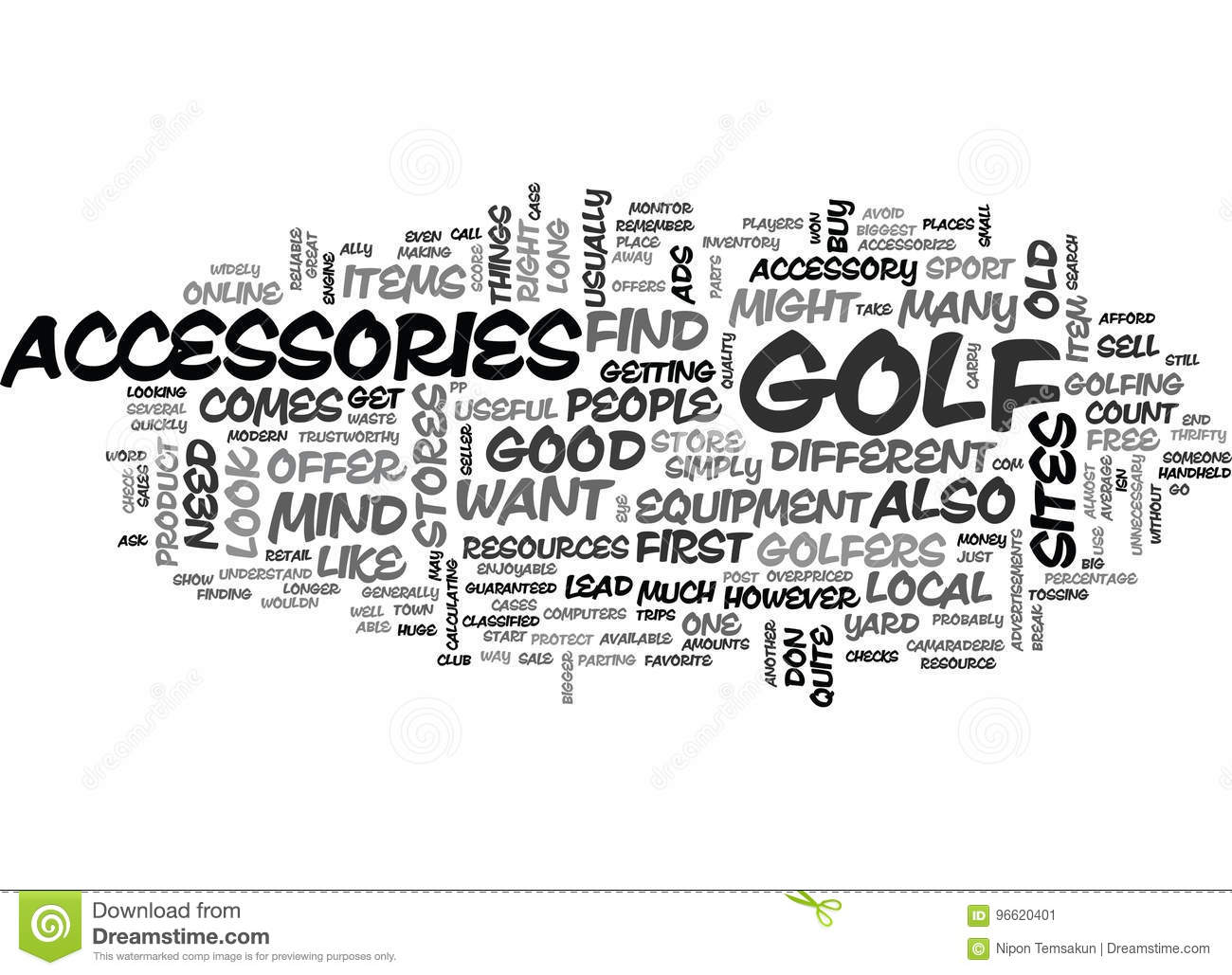 Where You Can Buy Useful Golf Accessories Word Cloud
