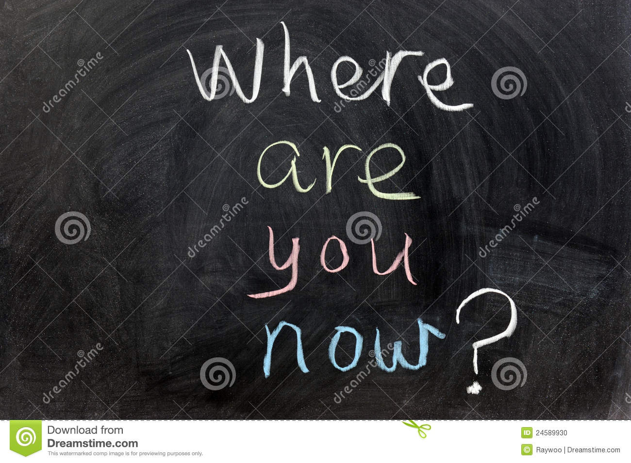 Where Are You Now? Stock Photo - Image: 24589930