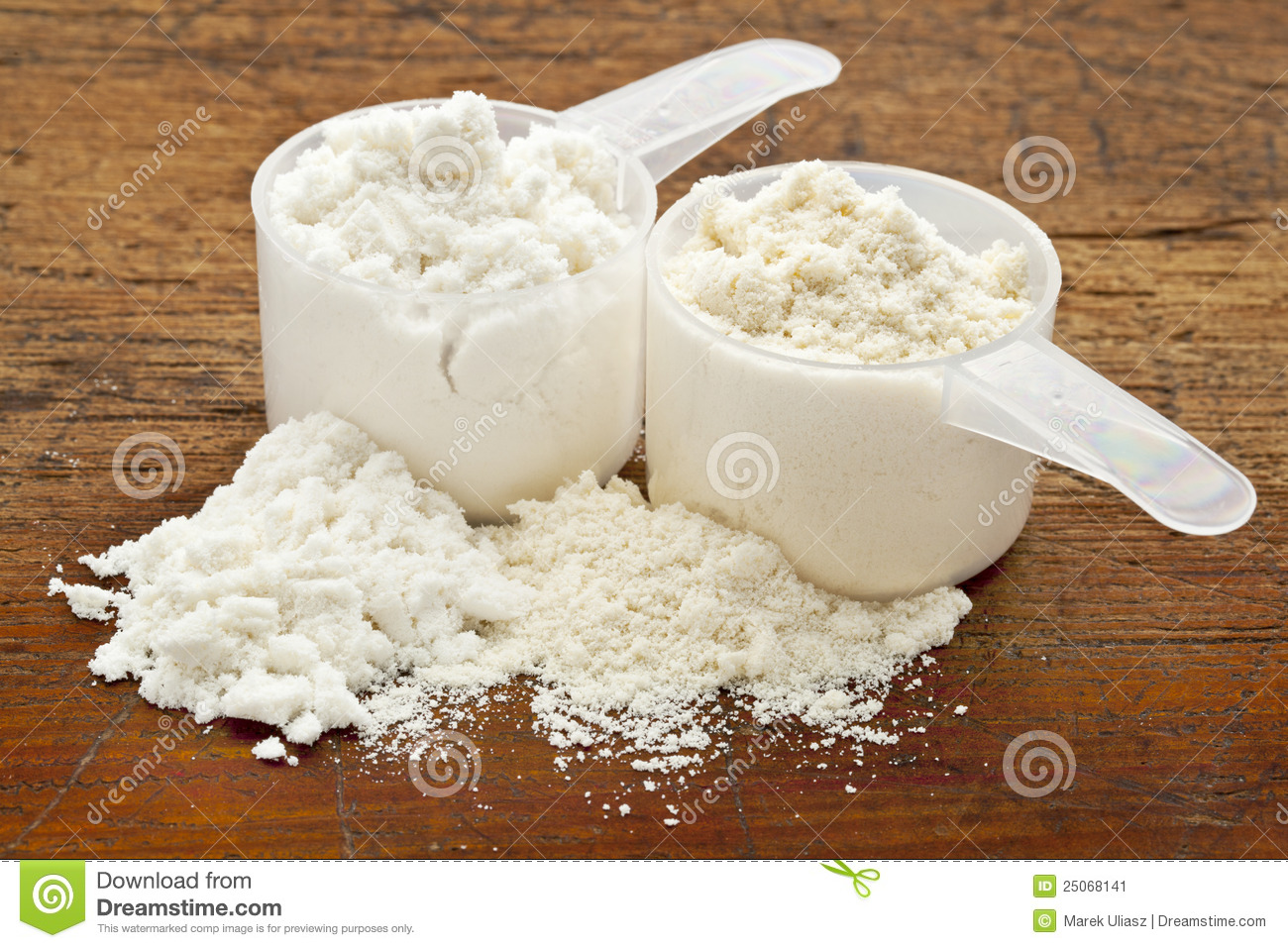 Whey Protein Powder - Two Scoops Stock Image - Image: 25068141