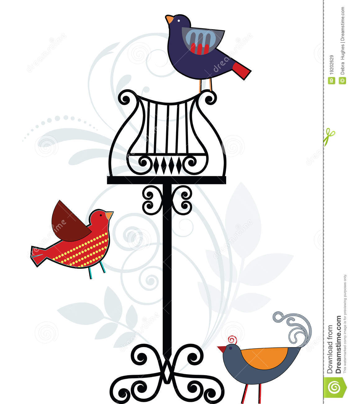 Whimsical Birds With Music Stand Royalty Free Stock Images Image 19202629
