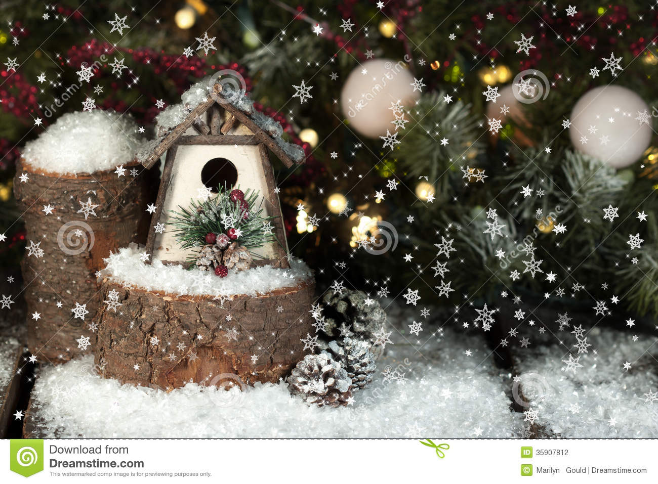 whimsical christmas birdhouse stock photography image tree stump clipart free Black and White Clip Art Tree Stump