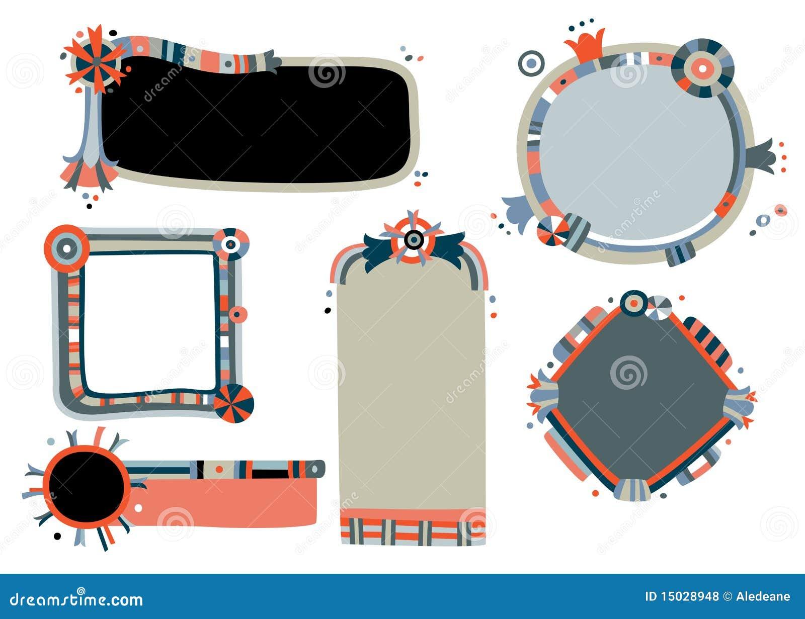 Whimsical Frames stock vector. Illustration of geometric - 15028948
