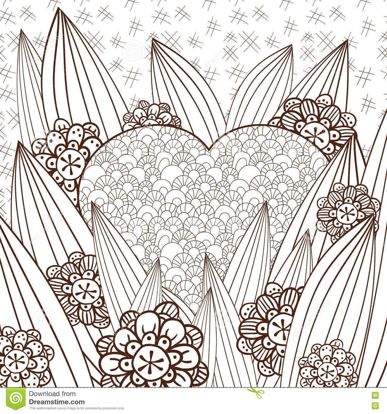 Royalty Free Vector Download Whimsical Garden Adult Coloring