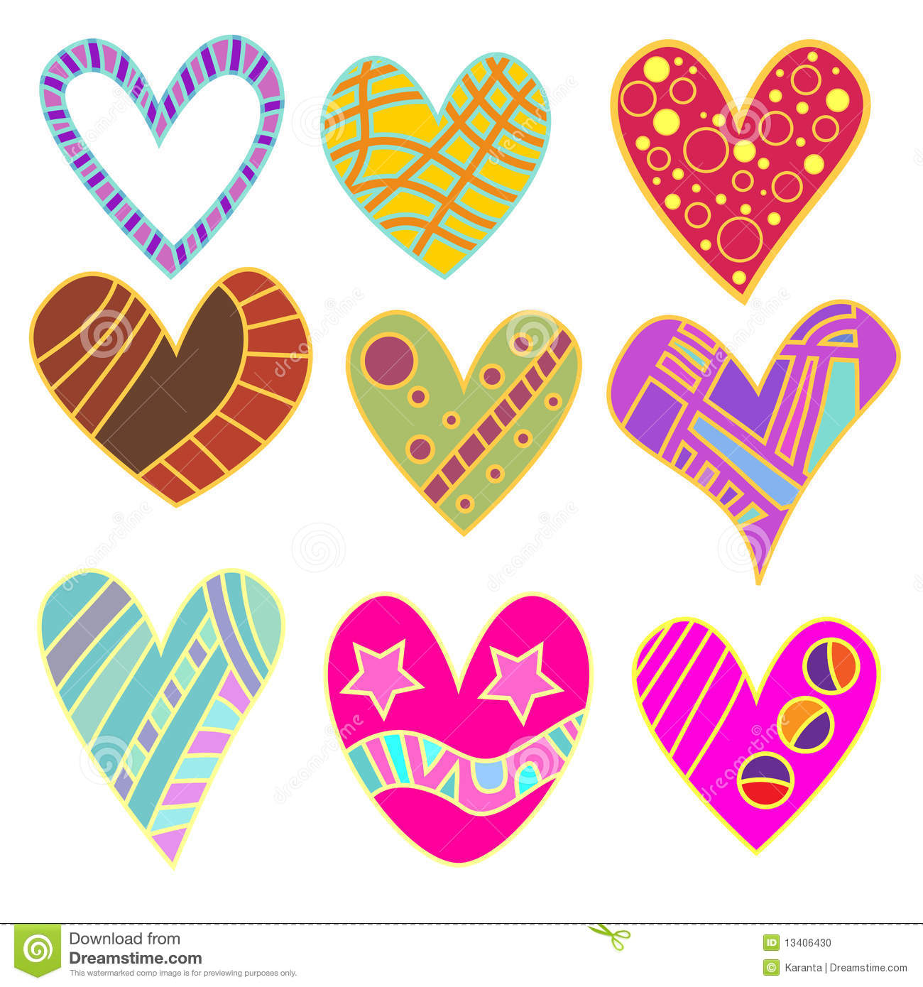 Whimsical heart collection