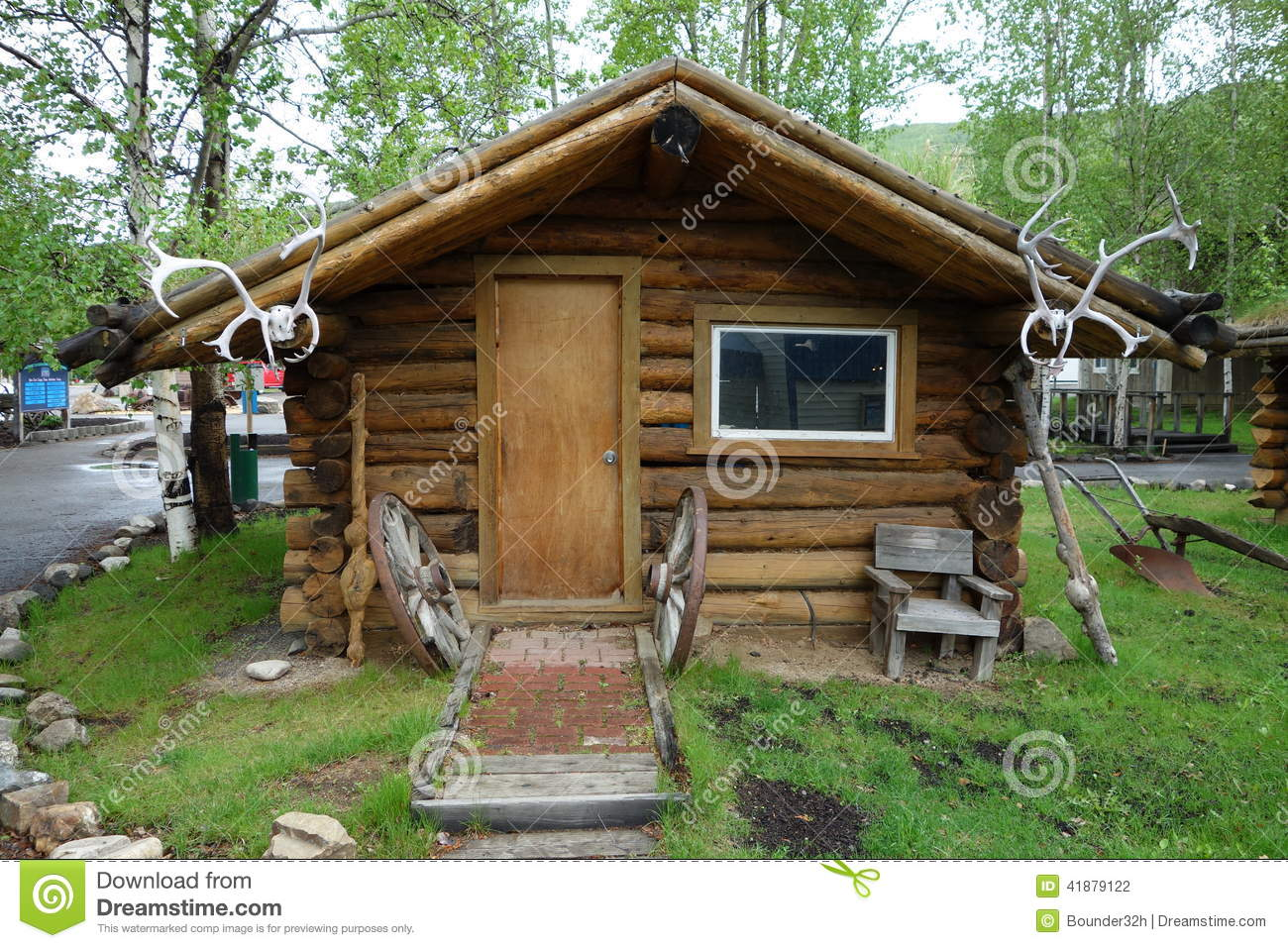 A Whimsical Log Cabin Stock Photo Image Of Weathered