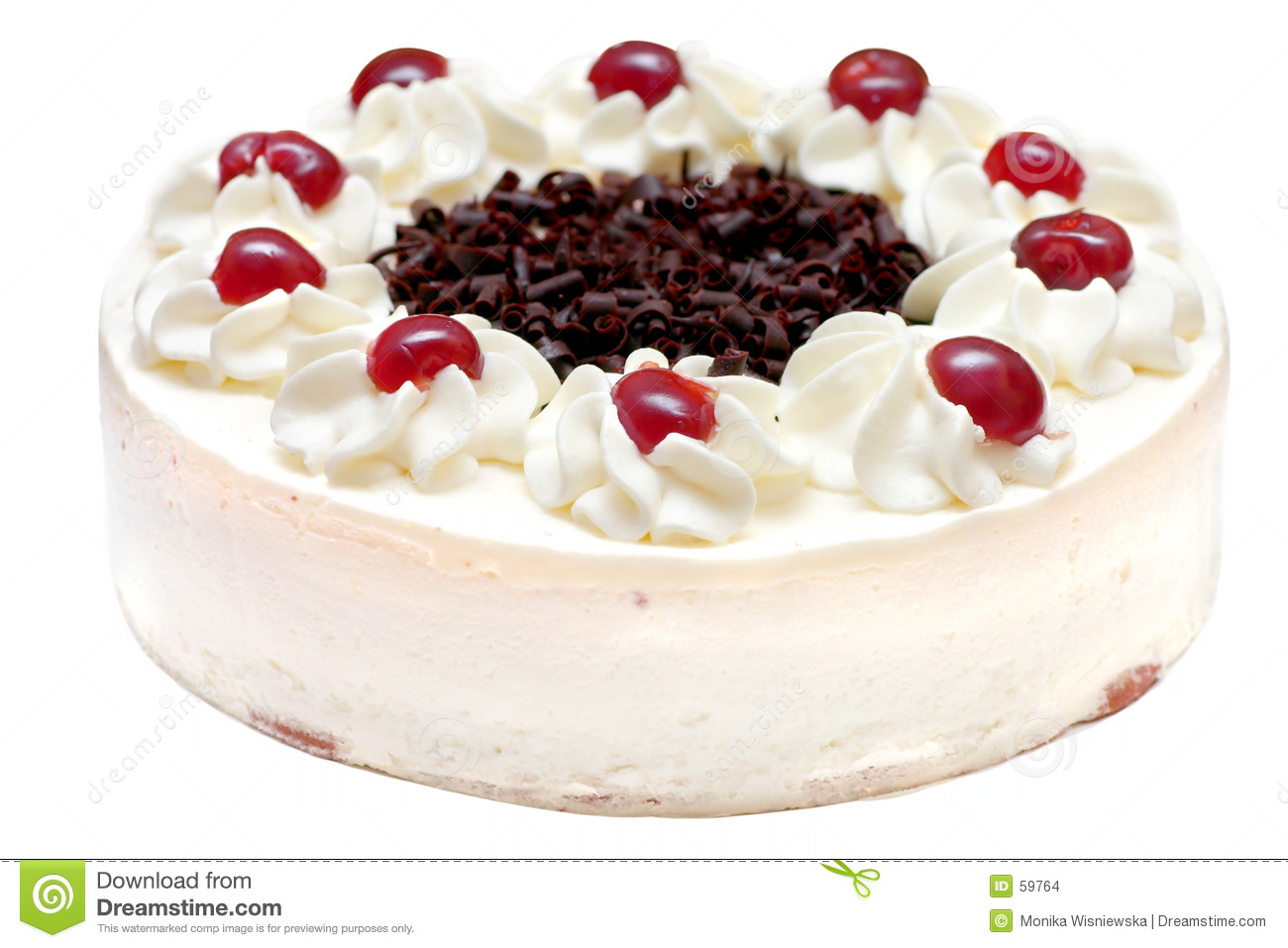 Whipped Cream Cake Stock Images - Image: 59764