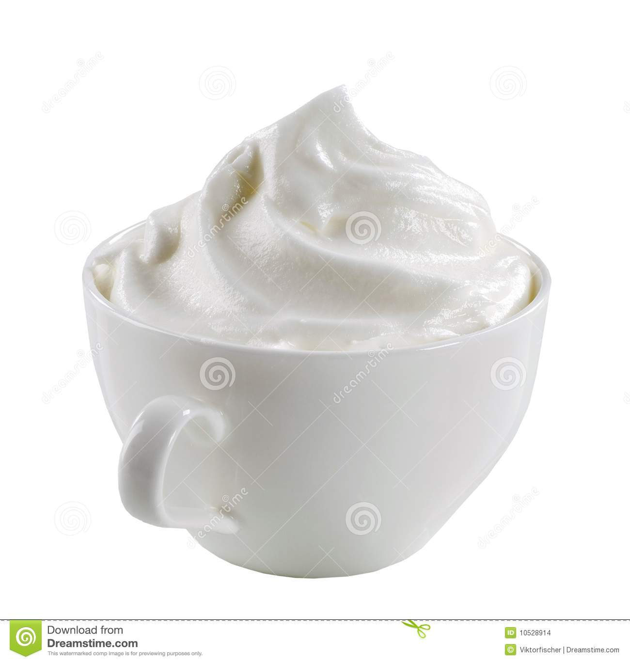 Whipped Cream In A Cup Stock Images Image 10528914