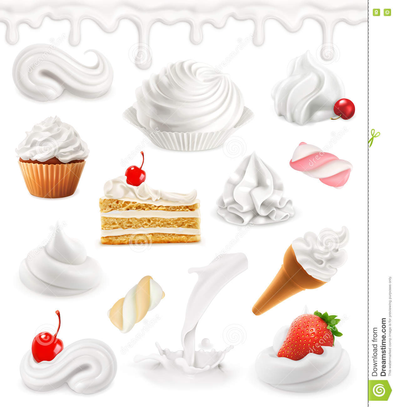 Whipped Cream Stock Illustrations 5 538 Whipped Cream