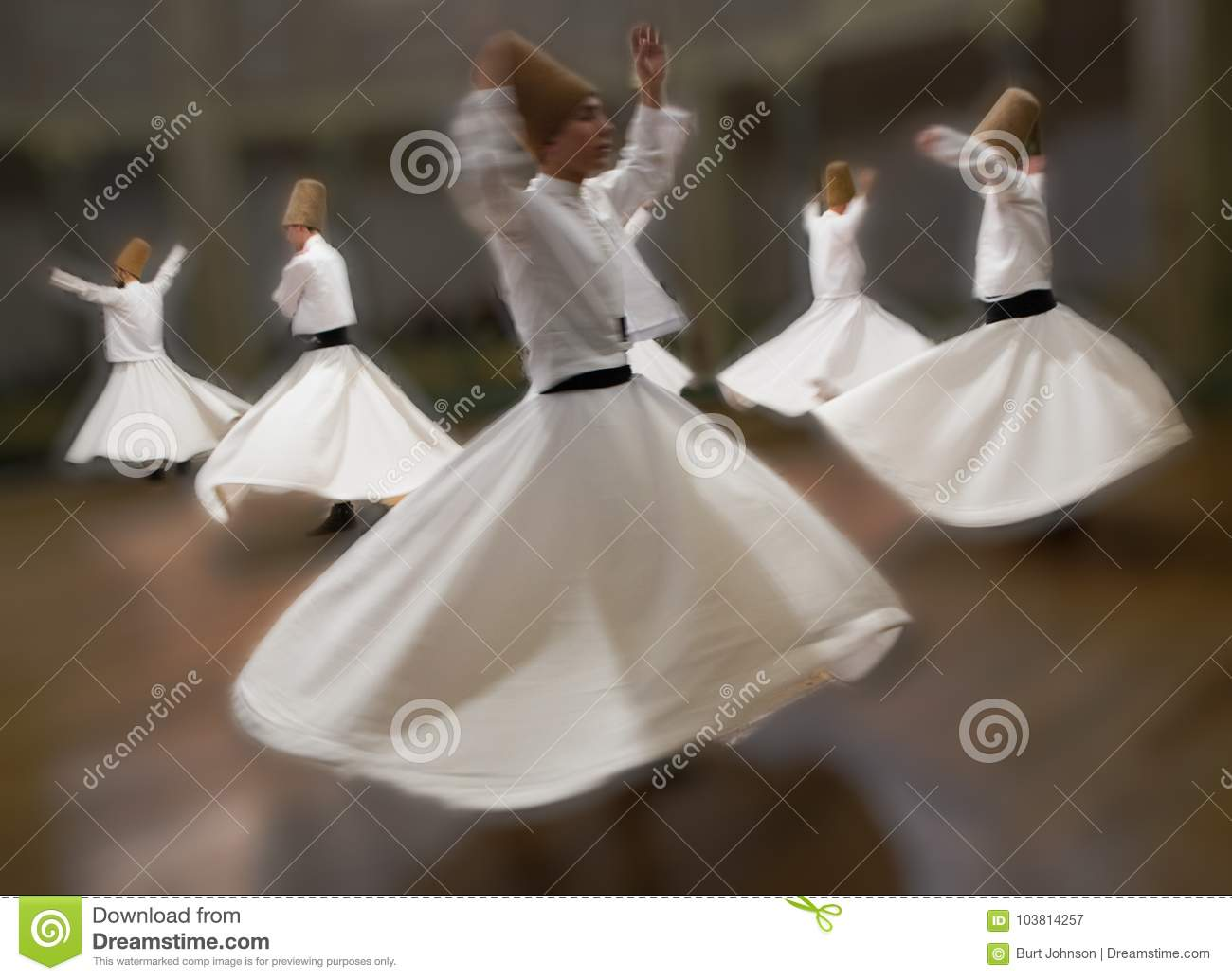 Whirling Dervishes practice their dance