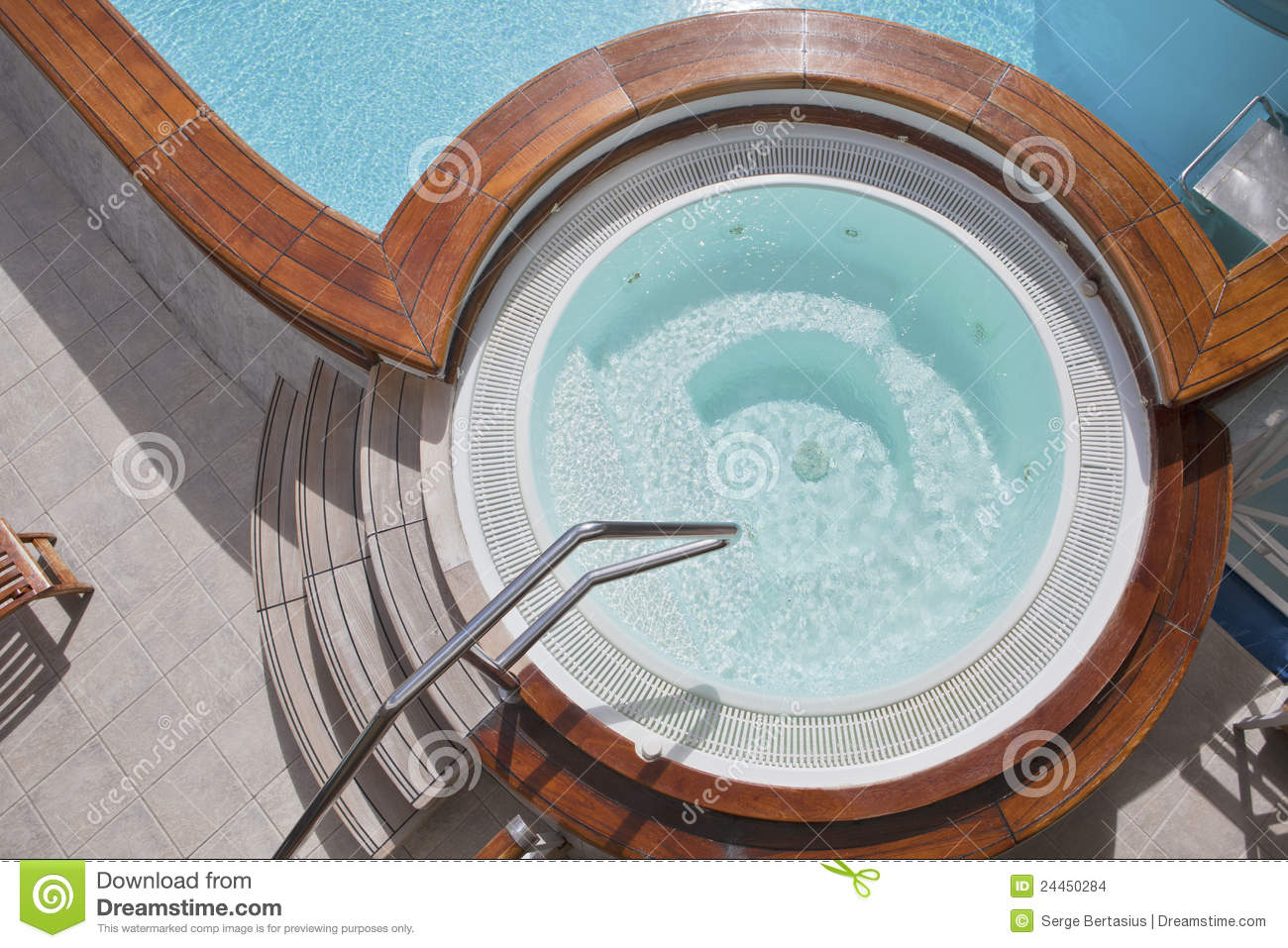 Whirlpool On The Deck Of A Cruise Ship Stock Photo Image