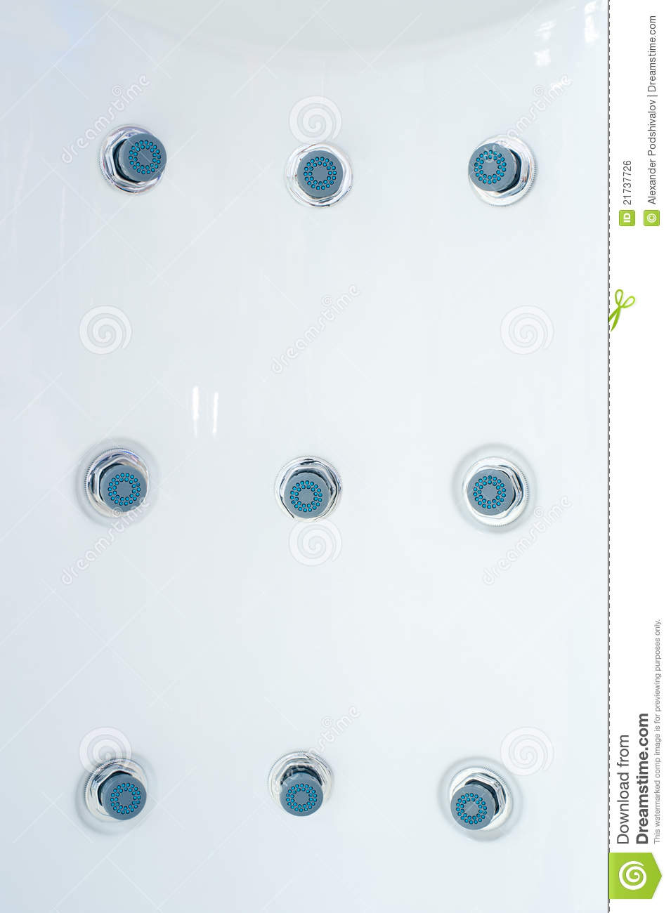 Whirlpool Jets On Shower Panel Stock Photo - Image of empty ...
