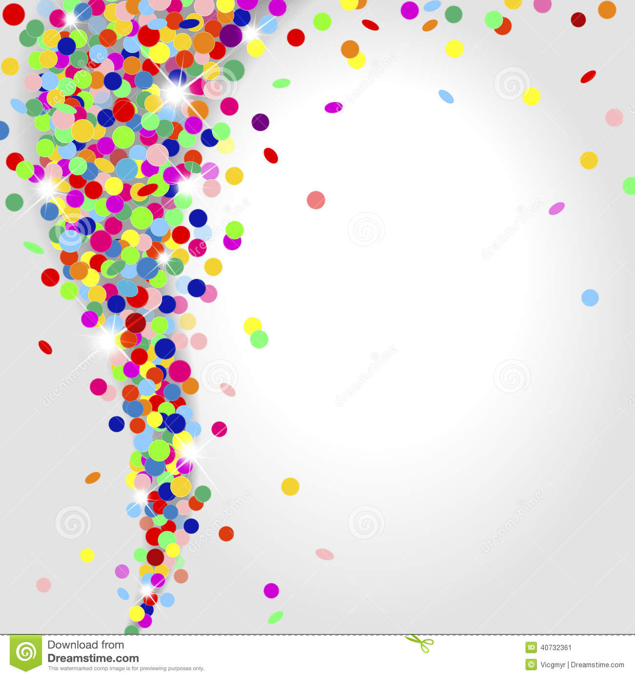 Whirlwind Of Confetti Stock Vector Image 40732361