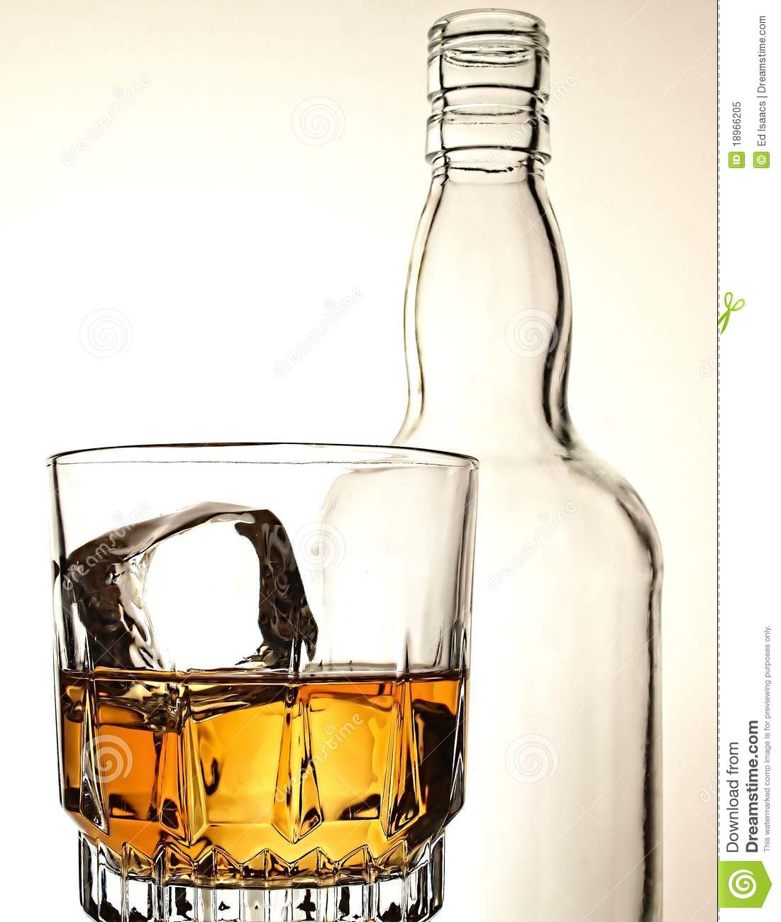 Whiskey Bottle & Glass Abstract Stock Image - Image of ... |Whisky Bottle With Glass