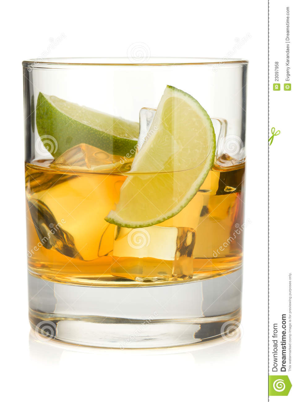 Whiskey Cocktail With Lime Royalty Free Stock Photos - Image: 23097958