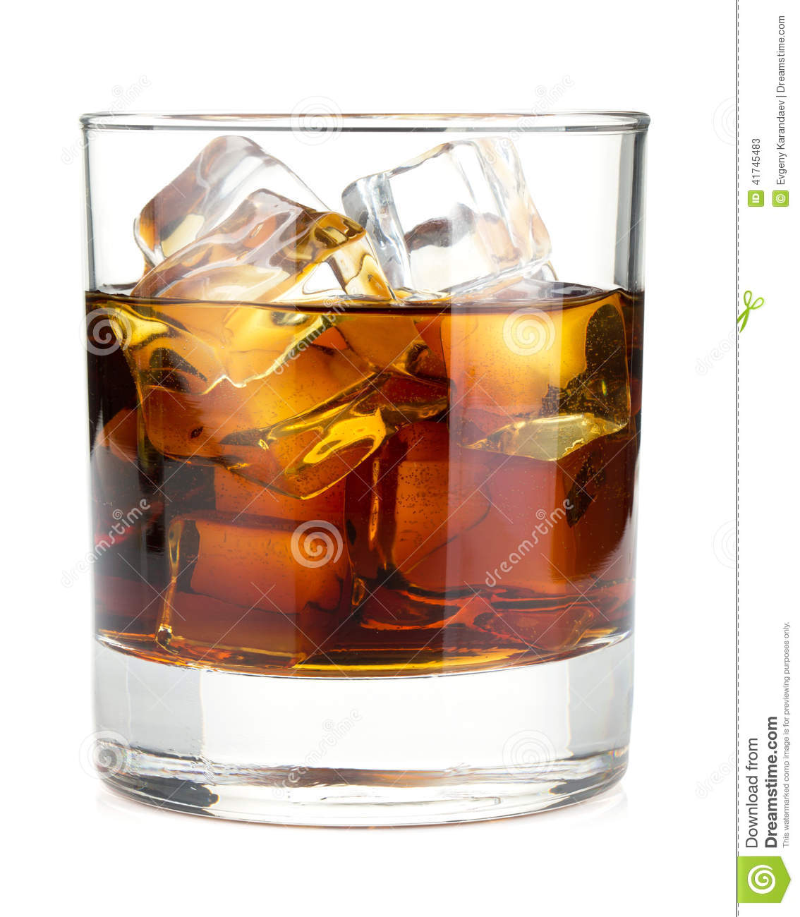 Whiskey Cola Cocktail Stock Photo - Image: 41745483