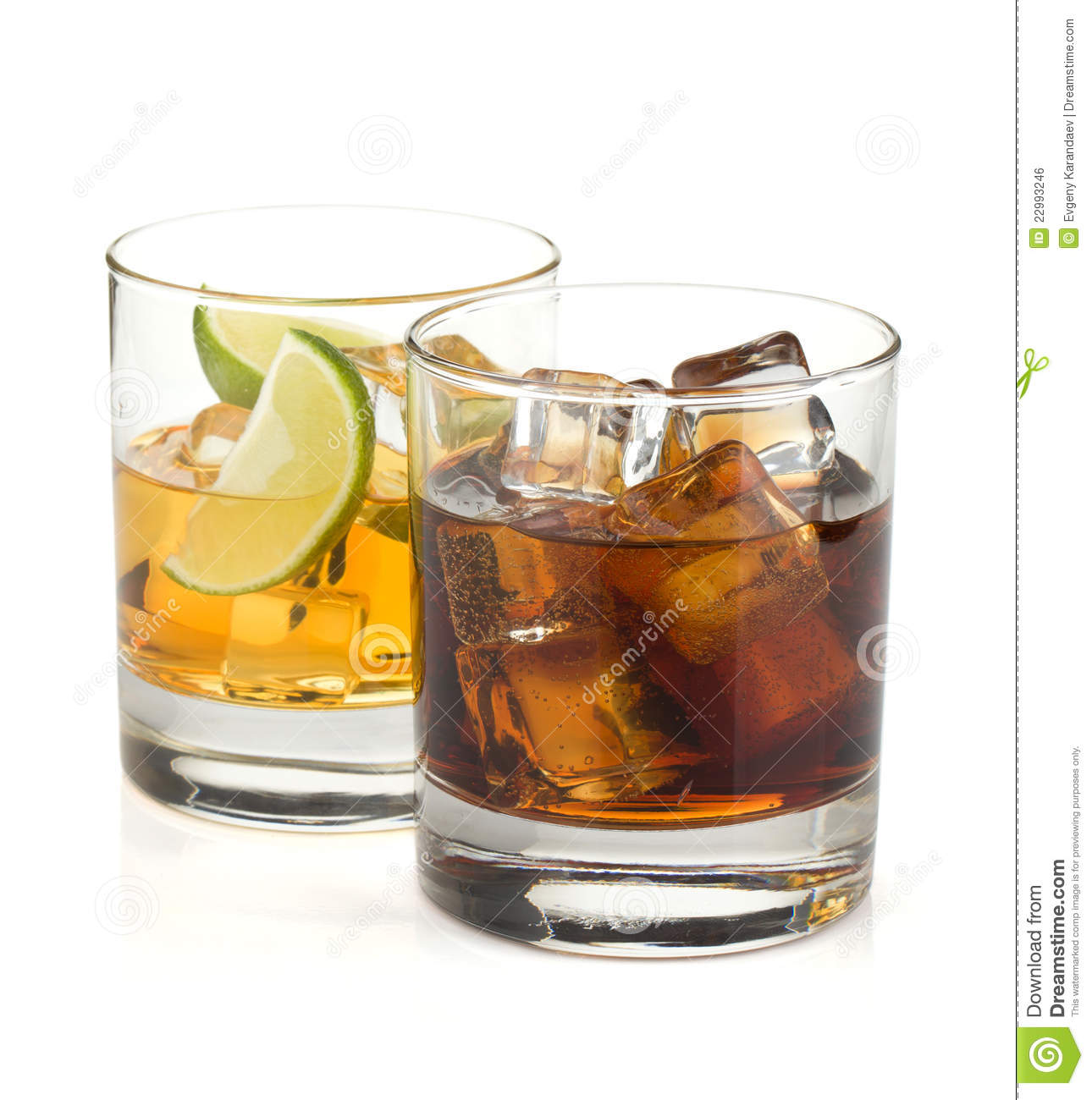 Whiskey And Cola Cocktails Royalty Free Stock Image - Image: 22993246