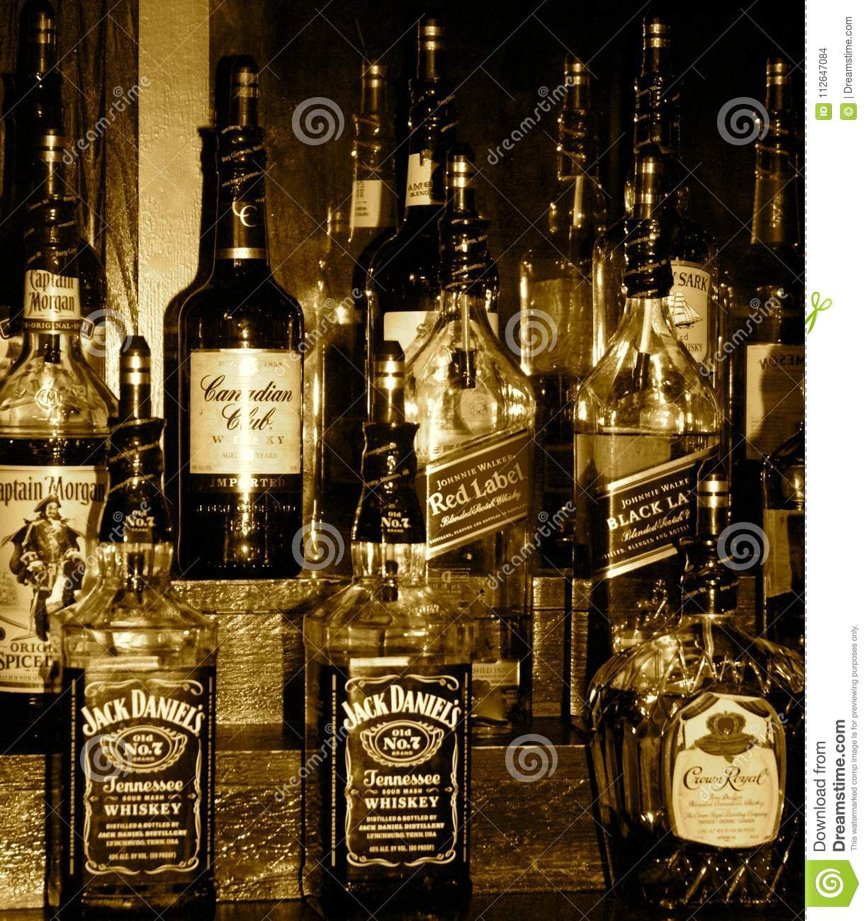 Whiskey Set Up Editorial Stock Image Image Of Morgan 112647084