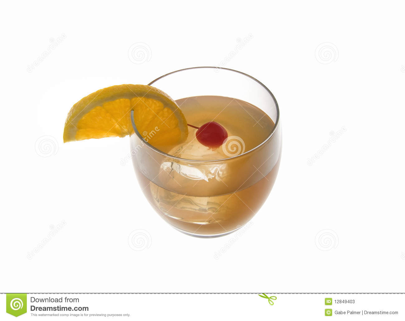 Whiskey Sour Cocktail On A White Background Stock Photos - Image ...