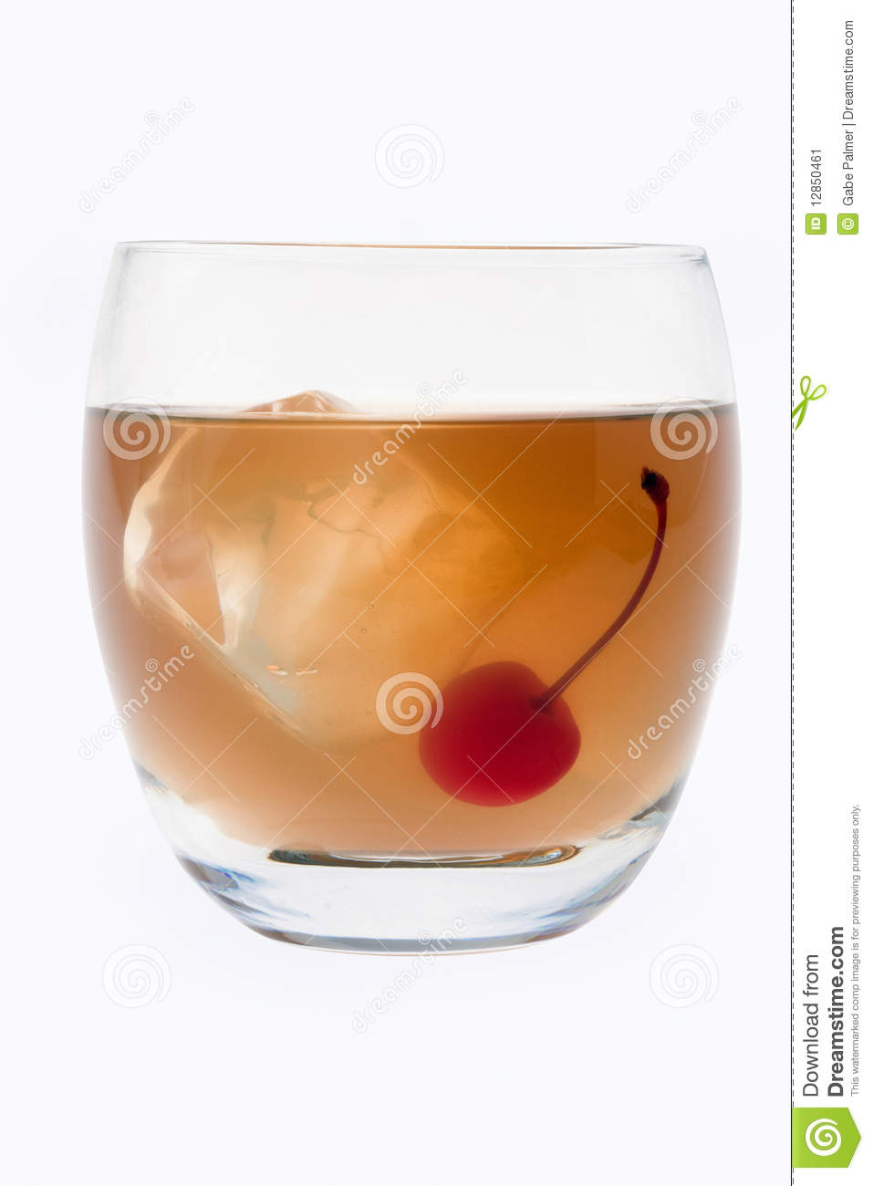 Whiskey Sour Cocktail On A White Background Stock Image - Image ...
